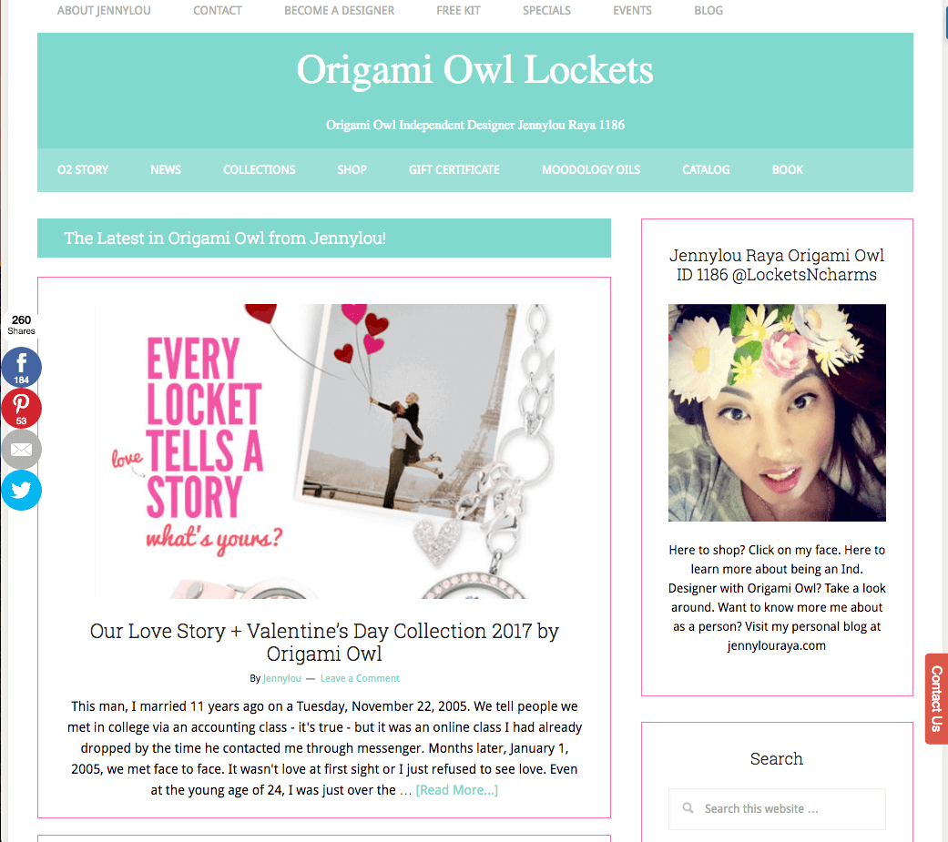 Origami Owl Lockets Independent Designer Home page
